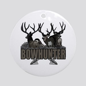 Bowhunter bucks Ornament (Round)
