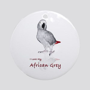 i love african greys Ornament (Round)
