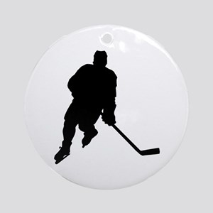 Hockey Player Keepsake (Round)