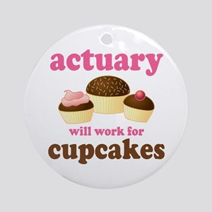 Funny Actuary Ornament (Round)