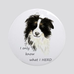 Watercolor Border Collie Dog Humor Herding Quote R