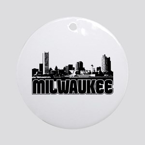 Milwaukee Skyline Ornament (Round)