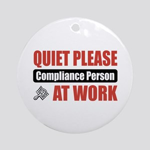 Compliance Person Work Ornament (Round)