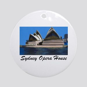 Opera House Painting Ornament (Round)