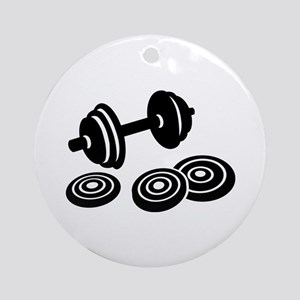 Barbell Dumbbell Ornament (Round)