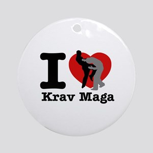 Krav Maga Heart Designs Ornament (Round)