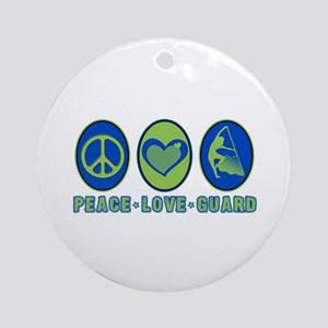 PEACE - LOVE - GUARD Ornament (Round)