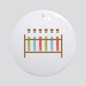 Test Tubes Ornament (Round)