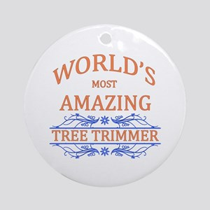 Tree Trimmer Round Ornament