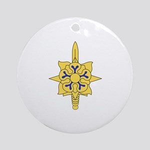 MILITARY INTELLIGENCE Ornament (Round)