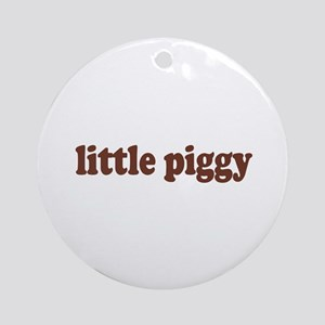Little Piggy Ornament (Round)