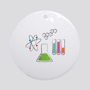 Chemistry Atoms Ornament (Round)