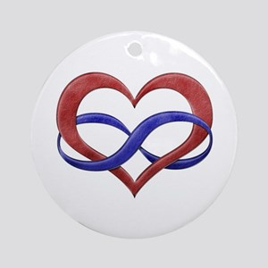 Polyamory Heart Ornament (Round)