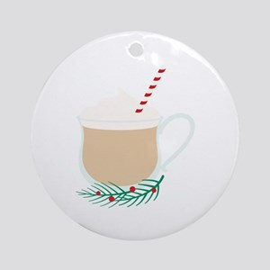 Eggnog Drink Round Ornament