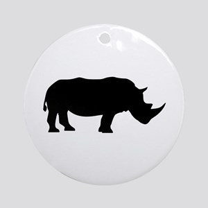 Rhino Ornament (Round)
