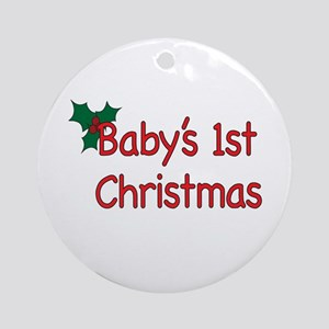 Baby 1st Christmas Ornament (Round)