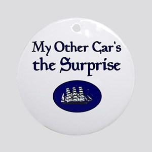 My Other Car's the Surprise Ornament (Round)