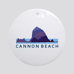 Cannon Beach. Round Ornament