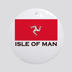 The Isle Of Man Flag Gear Ornament (Round)