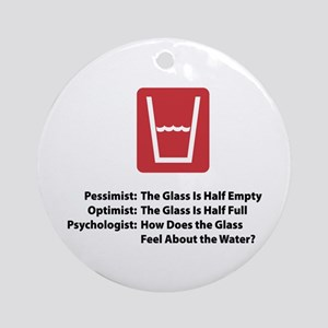 Psychologist Glass Ornament (Round)