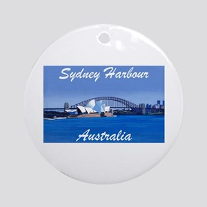 Sydney Harbour Painting Ornament (Round)