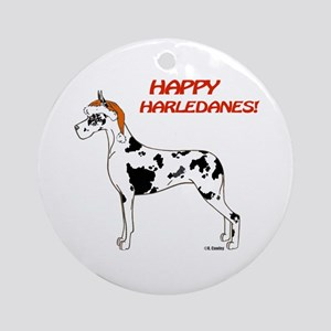 CH Happy Harledanes Ornament (Round)