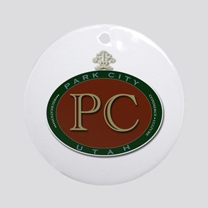 Park City Logo Medallion by LH Round Ornament