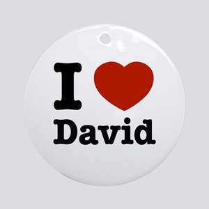I love David Ornament (Round)