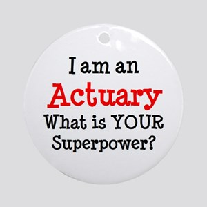 actuary Round Ornament