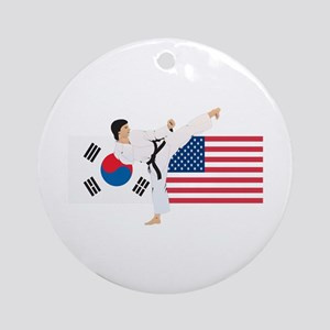 Karate Ornament (Round)