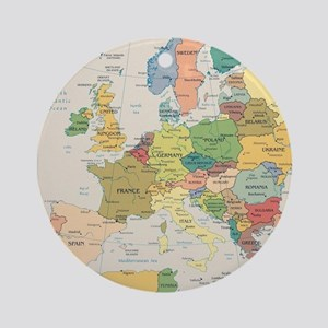 Europe Map Round Ornament