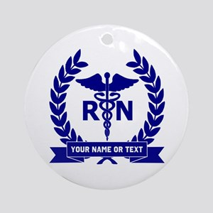 RN (Registered Nurse) Round Ornament