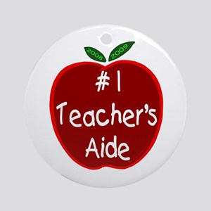 Apple for Teacher's Aide Ornament (Round)