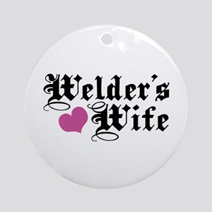 Welder's Wife Ornament (Round)