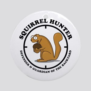 Squirrel Hunter Ornament (Round)