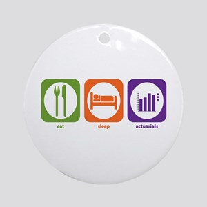 Eat Sleep Actuarials Ornament (Round)