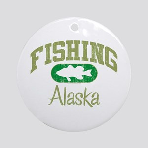 FISHING ALASKA Ornament (Round)