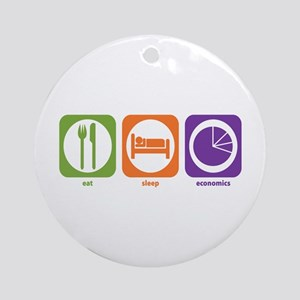Eat Sleep Economics Ornament (Round)