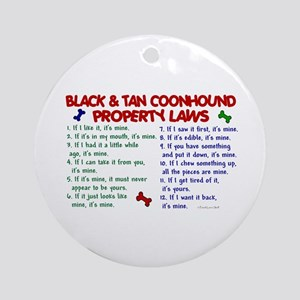 Black & Tan Coonhound Property Laws 2 Ornament (Ro
