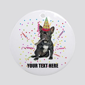 Custom French Bulldog Birthday Round Ornament