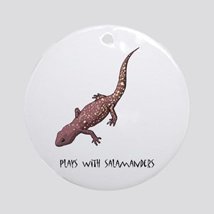 Plays With Salamanders Ornament (Round)