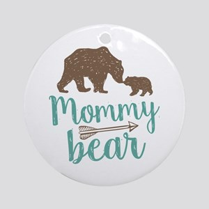 Mommy Bear Round Ornament