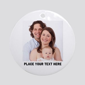 Photo Text Personalized Round Ornament
