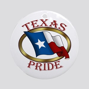 TX Flag: Texas Pride Ornament (Round)