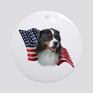 Berner Flag Ornament (Round)