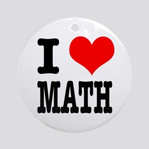 I Heart (Love) Math Ornament (Round)