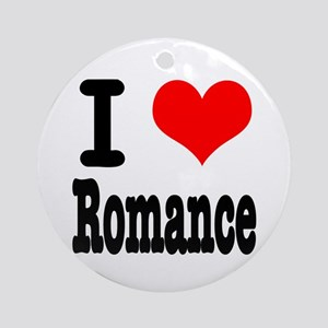 I Heart (Love) Romance Ornament (Round)