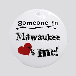 Milwaukee Loves Me Ornament (Round)