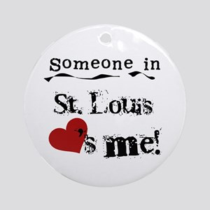 St. Louis Loves Me Ornament (Round)