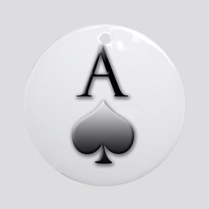 """Ace Of Spades"" Ornament (Round)"